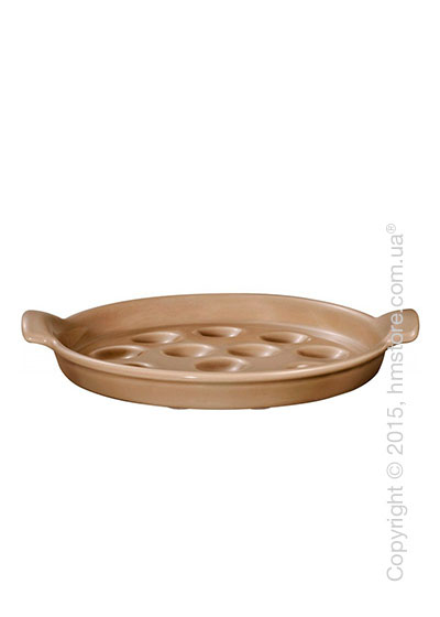 Блюдо для подачи улиток Emile Henry Ovenware на 12 штук, Oak