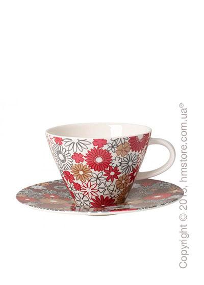 Чашка с блюдцем Villeroy & Boch коллекция Caffè Club Fiori 390 мл