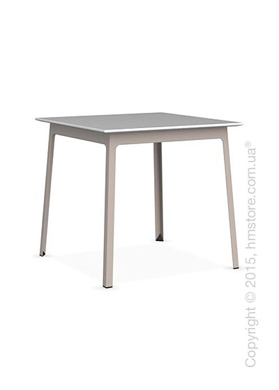 Стол Calligaris Dot, Square wood and metal table, Melamine matt white and Metal matt taupe
