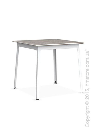 Стол Calligaris Dot, Square wood and metal table, Melamine deco pearl and Metal matt optic white