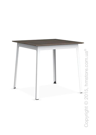 Стол Calligaris Dot, Square wood and metal table, Melamine deco nougat and Metal matt optic white