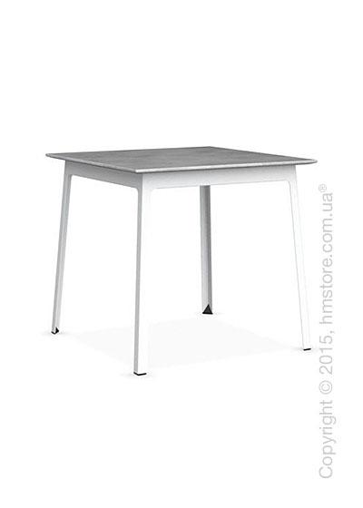 Стол Calligaris Dot, Square wood and metal table, Melamine beton grey and Metal matt optic white