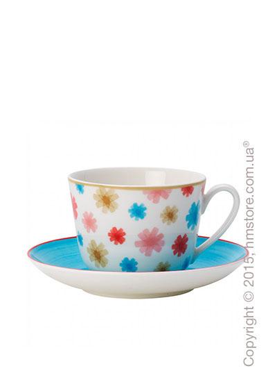 Чашка с блюдцем Villeroy & Boch коллекция Lina, Aqua