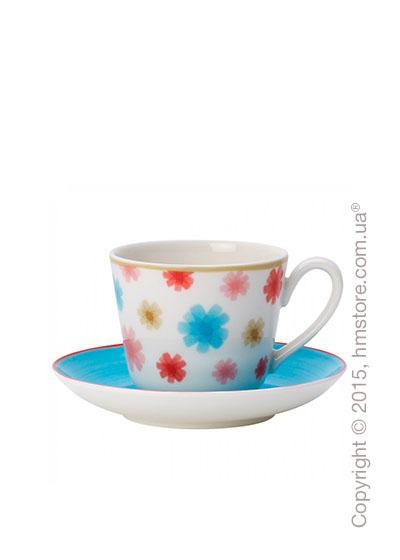 Чашка для эспрессо с блюдцем Villeroy & Boch коллекция Lina, Aqua