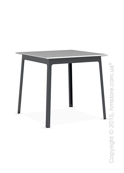 Стол Calligaris Dot, Square wood and metal table, Melamine multistripe silk and Metal matt grey