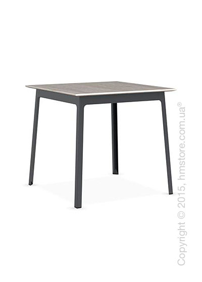 Стол Calligaris Dot, Square wood and metal table, Melamine deco pearl and Metal matt grey