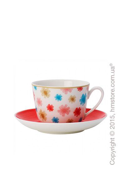Чашка с блюдцем Villeroy & Boch коллекция Lina, Cherry