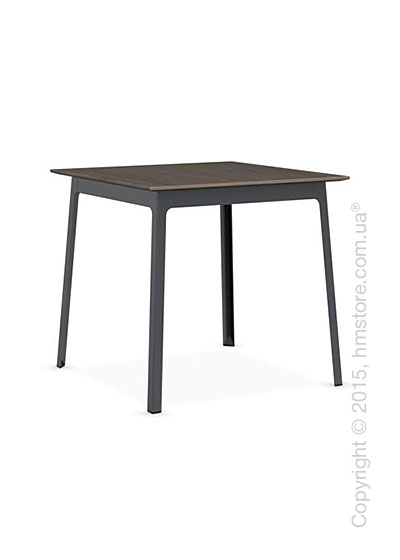 Стол Calligaris Dot, Square wood and metal table, Melamine deco nougat and Metal matt grey