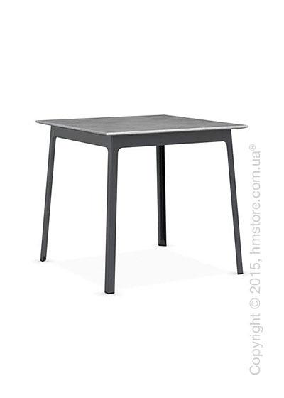 Стол Calligaris Dot, Square wood and metal table, Melamine beton grey and Metal matt grey