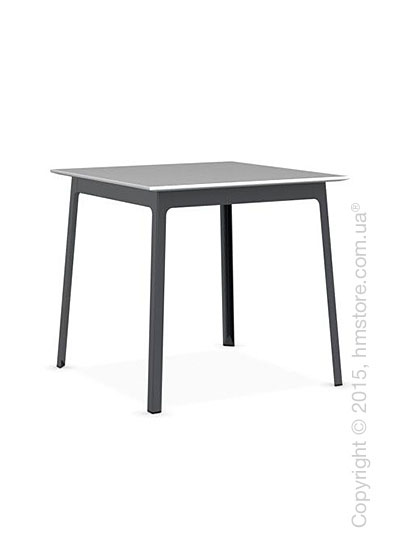 Стол Calligaris Dot, Square wood and metal table, Melamine matt white and Metal matt grey