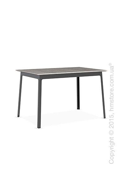 Стол Calligaris Dot, Rectangular wood and metal table, Melamine deco pearl and Metal matt black