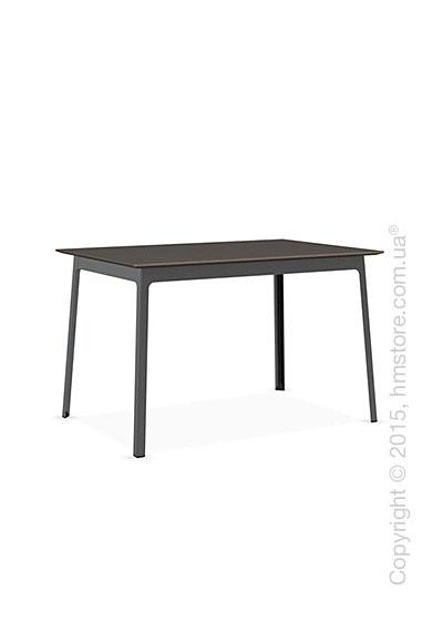 Стол Calligaris Dot, Rectangular wood and metal table, Melamine multistripe soil brown and Metal matt black