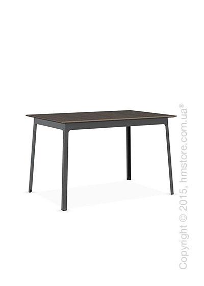 Стол Calligaris Dot, Rectangular wood and metal table, Melamine deco nougat and Metal matt black