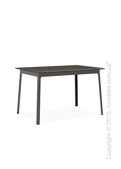 Стол Calligaris Dot, Rectangular wood and metal table, Melamine deco nougat and Metal matt black