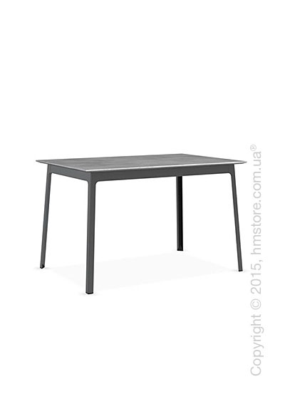 Стол Calligaris Dot, Rectangular wood and metal table, Melamine beton grey and Metal matt black