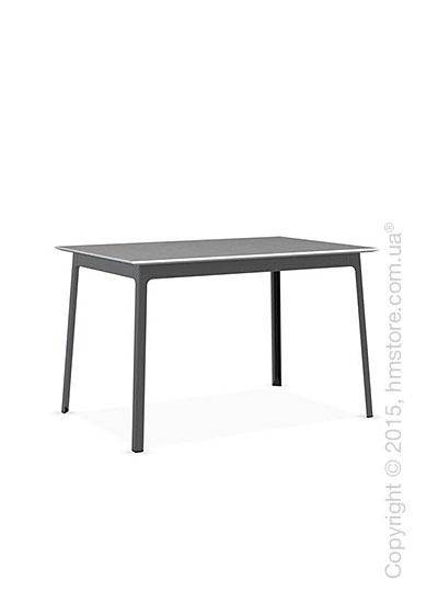 Стол Calligaris Dot, Rectangular wood and metal table, Melamine matt white and Metal matt black