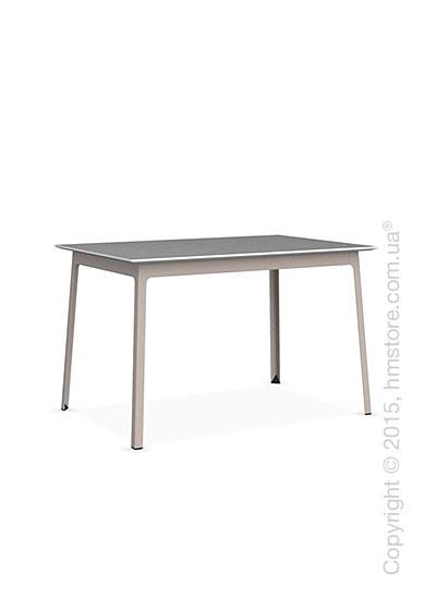 Стол Calligaris Dot, Rectangular wood and metal table, Melamine multistripe silk and Metal matt taupe