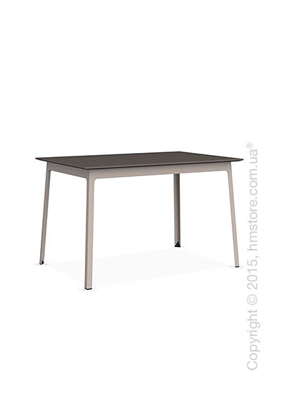 Стол Calligaris Dot, Rectangular wood and metal table, Melamine multistripe soil brown and Metal matt taupe