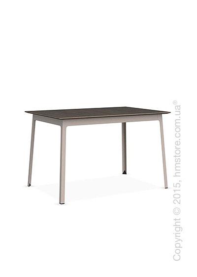 Стол Calligaris Dot, Rectangular wood and metal table, Melamine deco nougat and Metal matt taupe