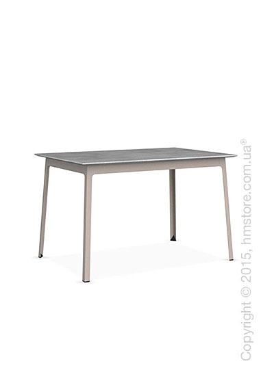 Стол Calligaris Dot, Rectangular wood and metal table, Melamine beton grey and Metal matt taupe