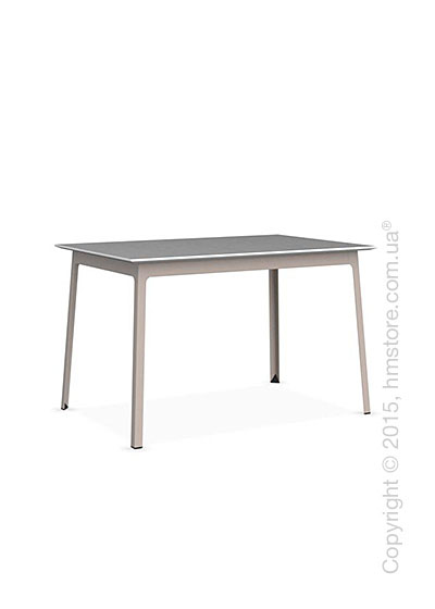 Стол Calligaris Dot, Rectangular wood and metal table, Melamine matt white and Metal matt taupe