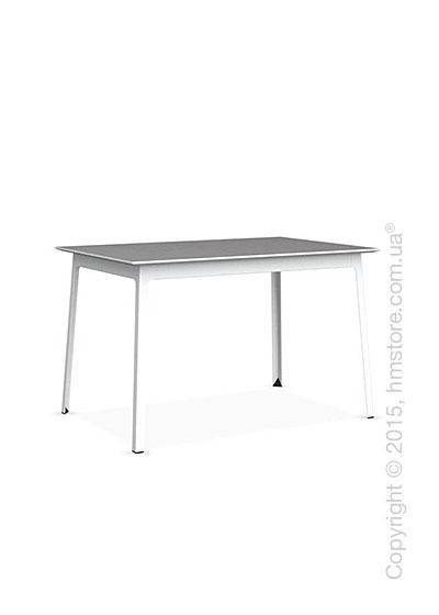 Стол Calligaris Dot, Rectangular wood and metal table, Melamine multistripe silk and Metal matt optic white