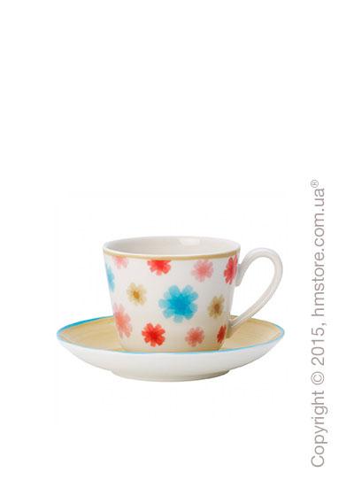 Чашка для эспрессо с блюдцем Villeroy & Boch коллекция Lina, Beige