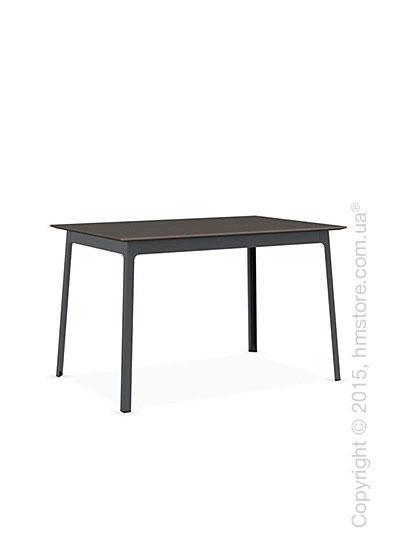 Стол Calligaris Dot, Rectangular wood and metal table, Melamine multistripe soil brown and Metal matt grey