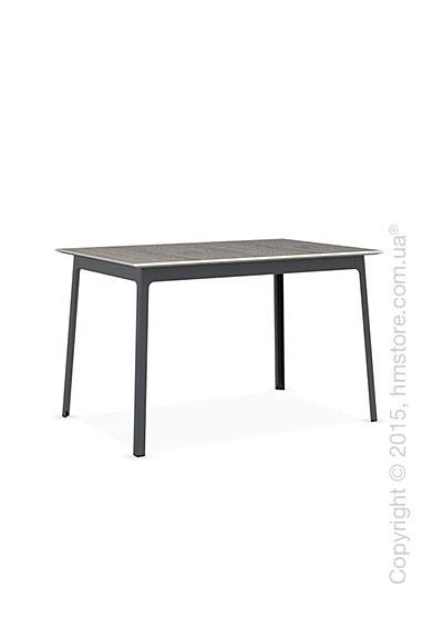Стол Calligaris Dot, Rectangular wood and metal table, Melamine deco pearl and Metal matt grey