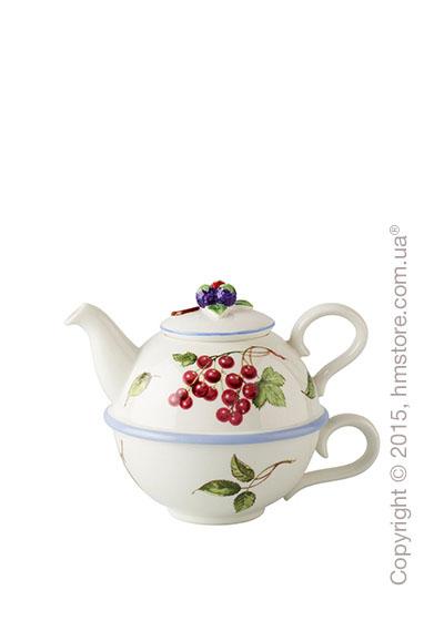 Чашка-чайник Villeroy & Boch коллекция Cottage Charm на 1 персону, 2 предмета