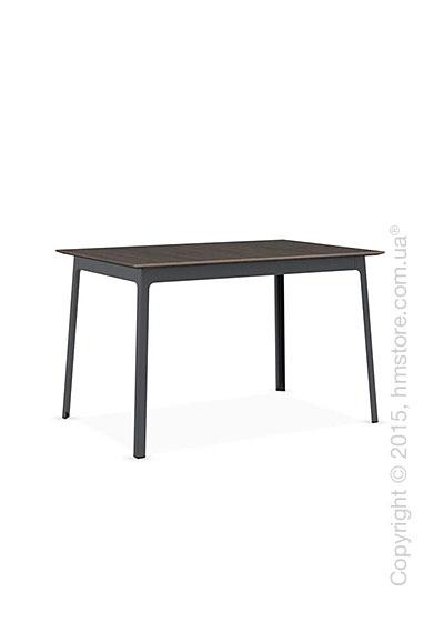 Стол Calligaris Dot, Rectangular wood and metal table, Melamine deco nougat and Metal matt grey
