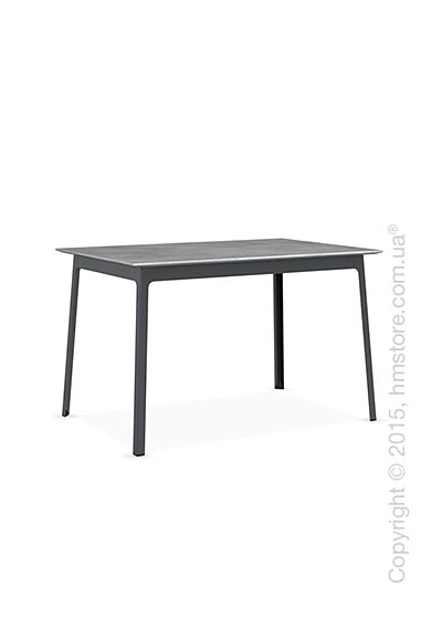 Стол Calligaris Dot, Rectangular wood and metal table, Melamine beton grey and Metal matt grey