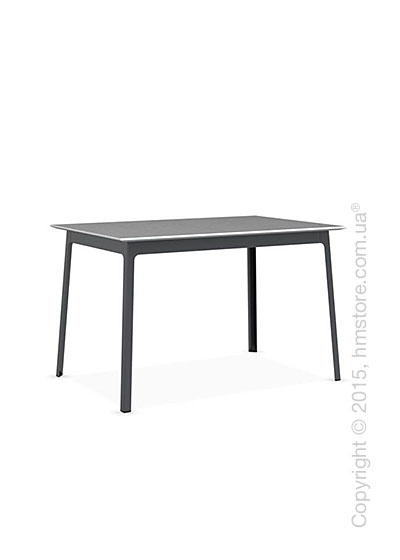 Стол Calligaris Dot, Rectangular wood and metal table, Melamine matt white and Metal matt grey