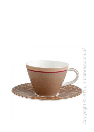 Чашка с блюдцем Villeroy & Boch коллекция Caffè Club Uni 220 мл, Caramel