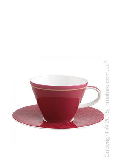 Чашка с блюдцем Villeroy & Boch коллекция Caffè Club Uni 390 мл, Berry