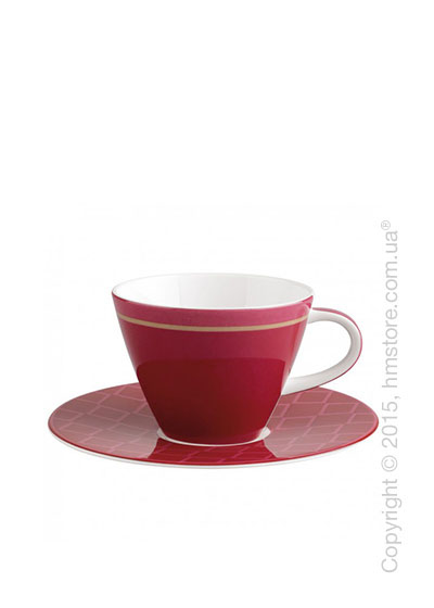 Чашка с блюдцем Villeroy & Boch коллекция Caffè Club Uni 220 мл, Berry