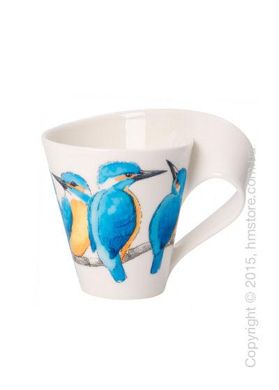 Чашка Villeroy & Boch коллекция New Wave, серия Animals of the World 300 мл, Eisvogel