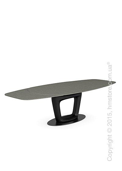 Стол Calligaris Orbital, Design extending table, Ceramic lead grey and Lacquered matt black