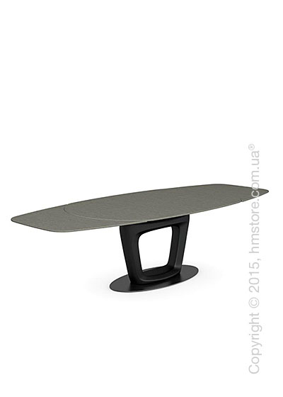 Стол Calligaris Orbital, Design extending table, Ceramic lead grey and Lacquered matt black