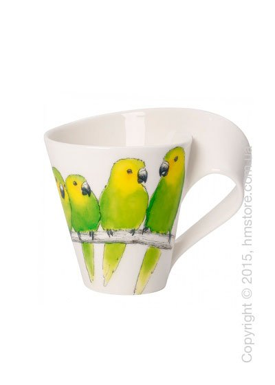 Чашка Villeroy & Boch коллекция New Wave, серия Animals of the World 300 мл, Conure. Купить