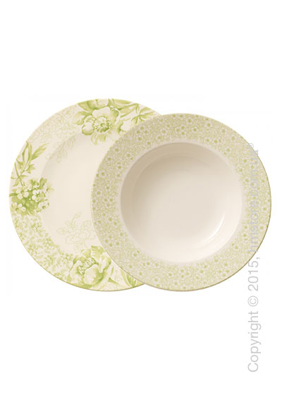 Набор тарелок Villeroy & Boch коллекция  Floreana на 6 персон, 12 предметов, Green