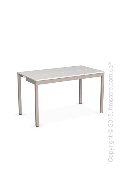 Стол Calligaris Snap Consolle, Extending console table, Melamine multistripe silk and Metal matt taupe