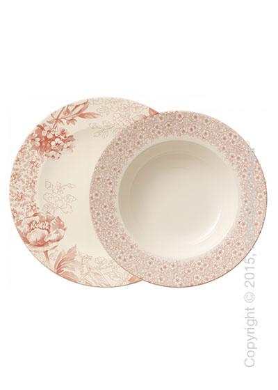 Набор тарелок Villeroy & Boch коллекция  Floreana на 6 персон, 12 предметов, Red