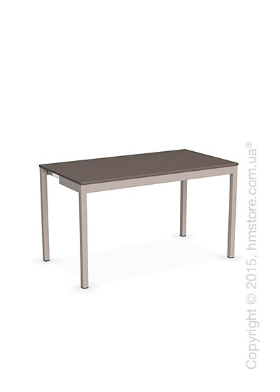 Стол Calligaris Snap Consolle, Extending console table, Melamine multistripe soil brown and Metal matt taupe