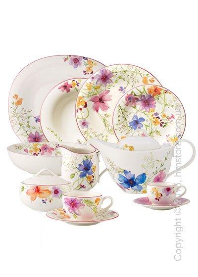Набор фарфоровой посуды Villeroy & Boch коллекция Mariefleur Basic на 6 персон, 48 предметов