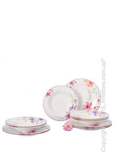 Набор тарелок Villeroy & Boch коллекция Mariefleur Basic на 6 персон, 12 предметов
