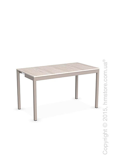 Стол Calligaris Snap Consolle, Extending console table, Melamine deco pearl and Metal matt taupe