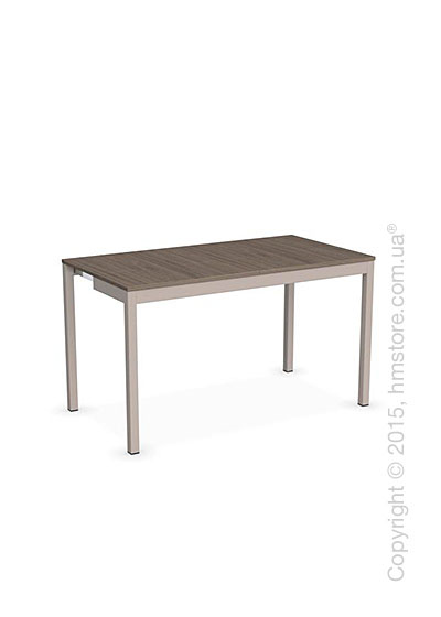Стол Calligaris Snap Consolle, Extending console table, Melamine deco nougat and Metal matt taupe