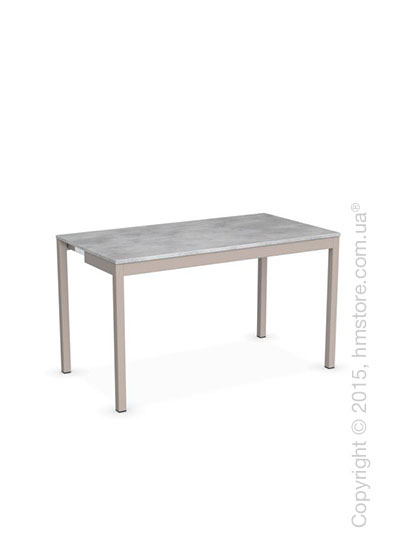 Стол Calligaris Snap Consolle, Extending console table, Melamine beton grey and Metal matt taupe