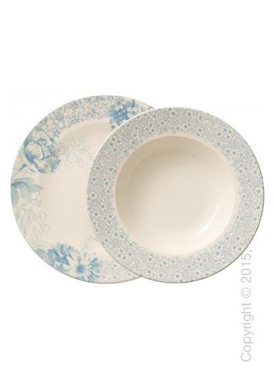 Набор тарелок Villeroy & Boch коллекция Floreana на 6 персон, 12 предметов, Blue